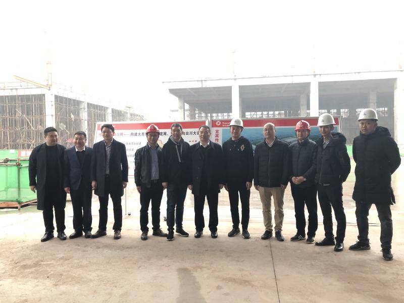 传化集团董事长到宜宾传化公路港建设项目调研