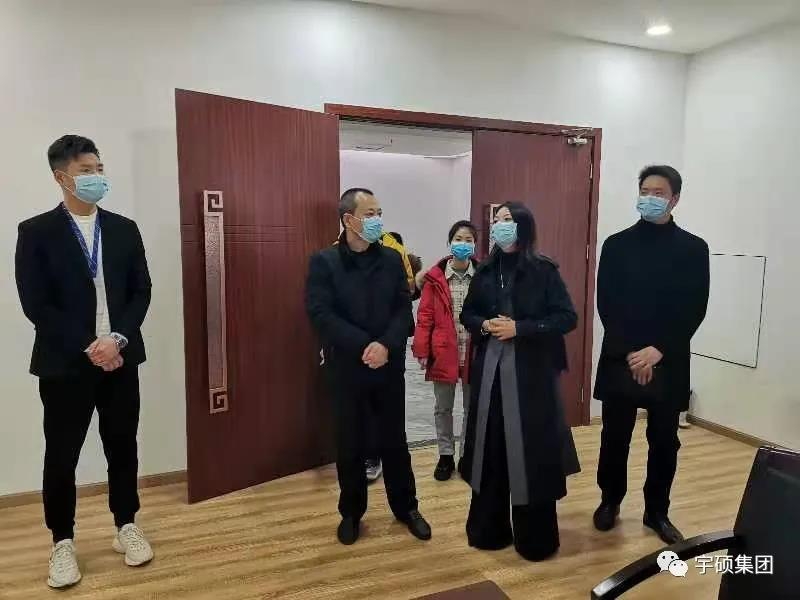 翠屏区政府副区长肖建新莅临宇硕集团调研指导工作