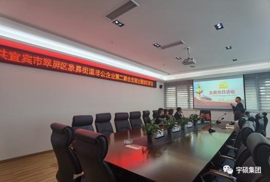 翠屏区象鼻街道非公企业第二联合支部组织召开3月主题党日活动
